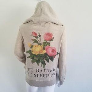 WildFox Sleeping in Flowers Hooded Sweater